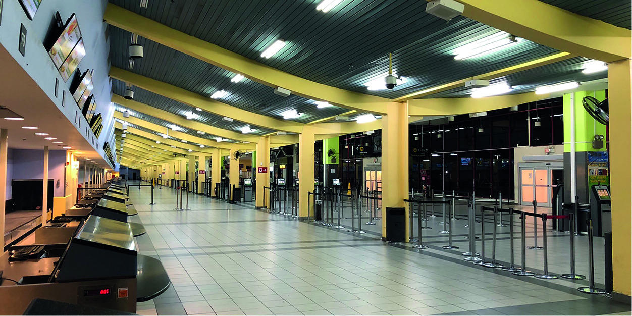 MBJ Airport's Check-in terminal
